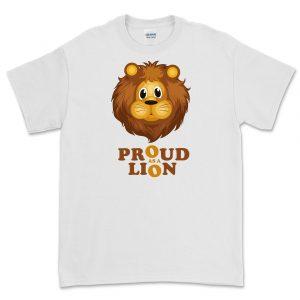 T-Shirt Proud As A Lion Bianco
